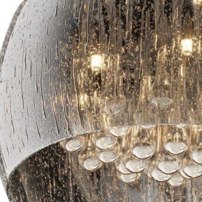 Plafon dekoracyjne kryształki i z efektem kropli sypialnia