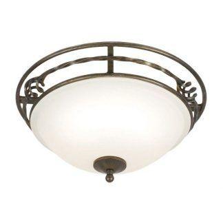 plafon klasyczny brązowy z białym kloszem ze szkła - kopuła
