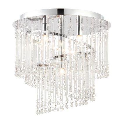 plafon kryształowy do sypialni w stylu glamour