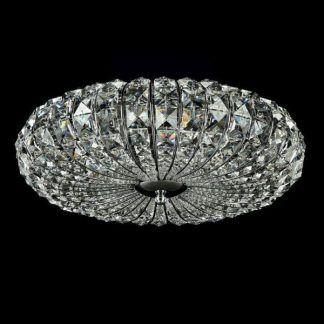 plafon kryształowy w kształcie ufo - glamour ozdobny