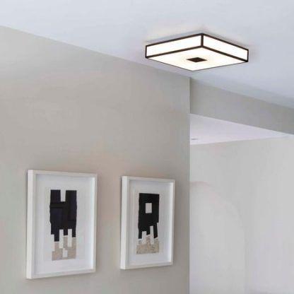 plafon kwadratowy brązowy ze szkła do korytarza i obrazów