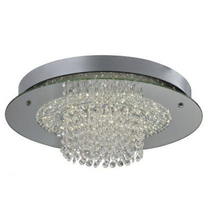 plafon łazienkowy z kryształkami do łazienki - srebrny
