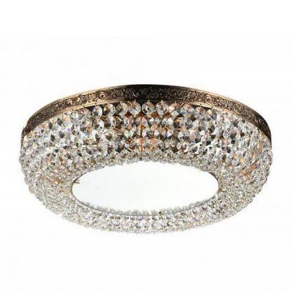 Plafon okrągły z kryształkami do salonu