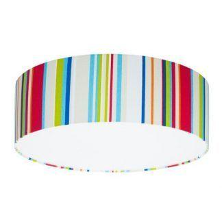 plafon sufitowy do pokoju dziecka - kolorowe kreski