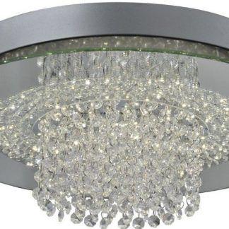 plafon sufitowy kryształowy glamour do łazienki
