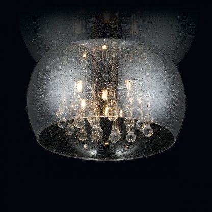 Plafon z elementami kropli z dekoracyjnymi kryształkami