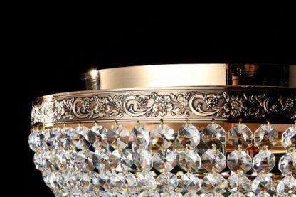 Plafon z kryształkami w stylu glamour do salonu