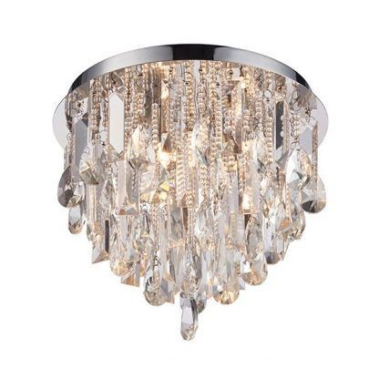 plafon ze zwisającymi kryształkami do salonu glamour