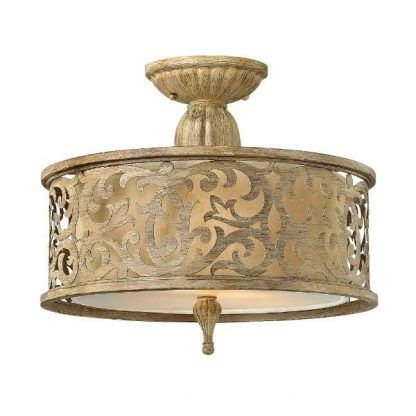 plafon złoty zdobiony klasyczny - okrągły art deco