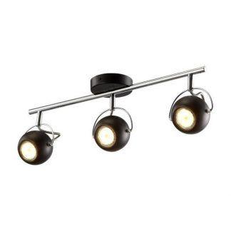 podłużna lampa sufitowa z kloszami w kształcie kul - 3 żarówki