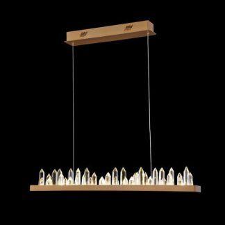 podłużna lampa wisząca nowoczesna z kryształem