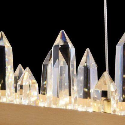 podłużna lampa wisząca z kryształkami