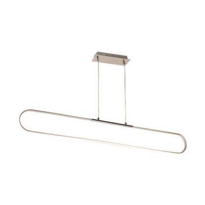 podłużna srebrna lampa wisząca led minimalistyczna