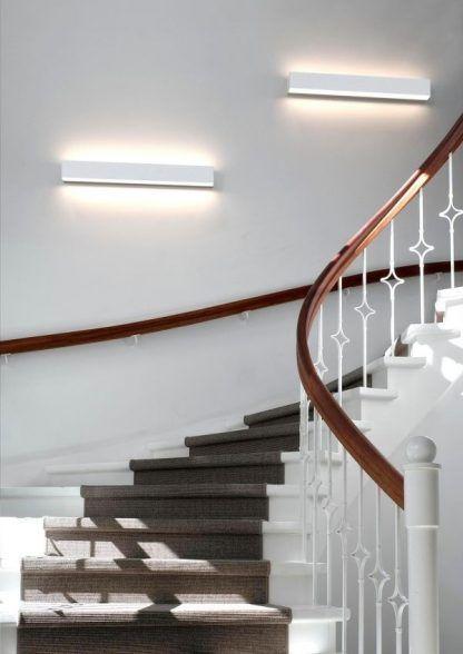 podłużne prostokątne kinkiety na klatkę schodową