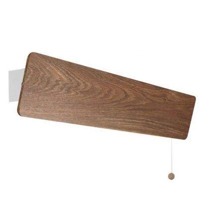podłużny drewniany kinkiet do sypialni
