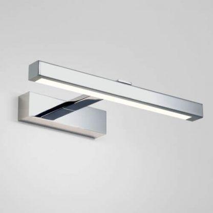 podłużny kinkiet do oświetlenia lustra chrom