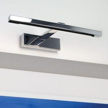 podłużny kinkiet nad lustro łazienkowe nowoczesne