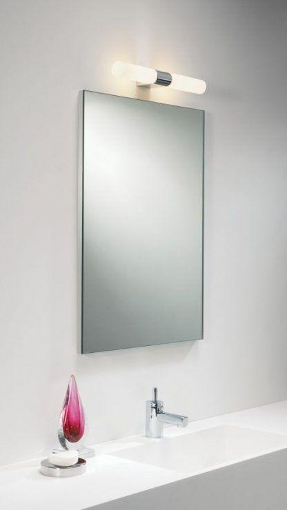 podłużny kinkiet szklany nad lustro do łazienki - podwójny
