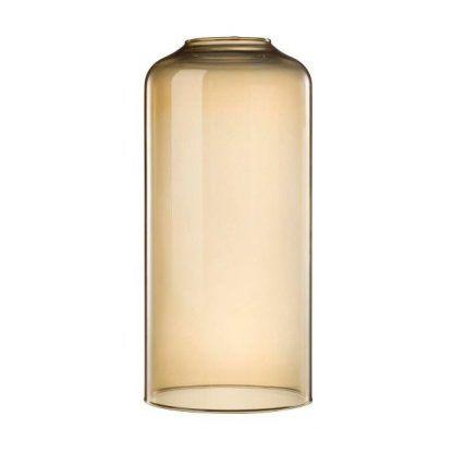 Podłużny szklany klosz w kolorze bursztynowym