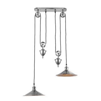 podwójna lampa wisząca industrialna do kuchni nad wyspę
