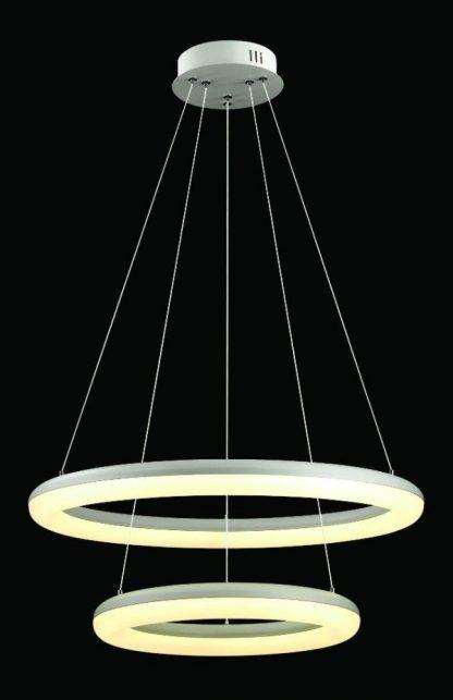 podwójna lampa wisząca ledowe okręgi do salonu