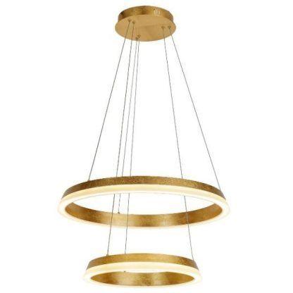 podwójna złota lampa dwa okręgi