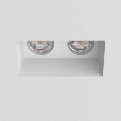 podwójne oczko sufitowe w sufit białe