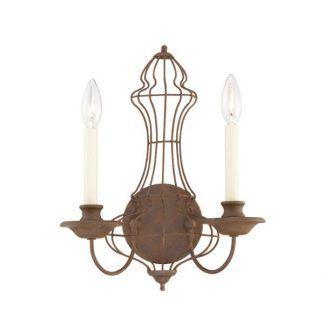 Podwójny brązowy kinkiet świecznik sypialnia