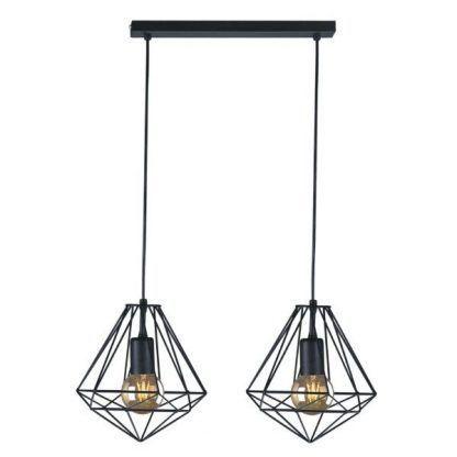 podwójny druciak z żarówkami dekoracyjnymi - lampa wiszaca