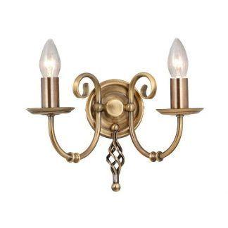 podwójny kinkiet złoty klasyczny na 2 żarówki i świeczniki