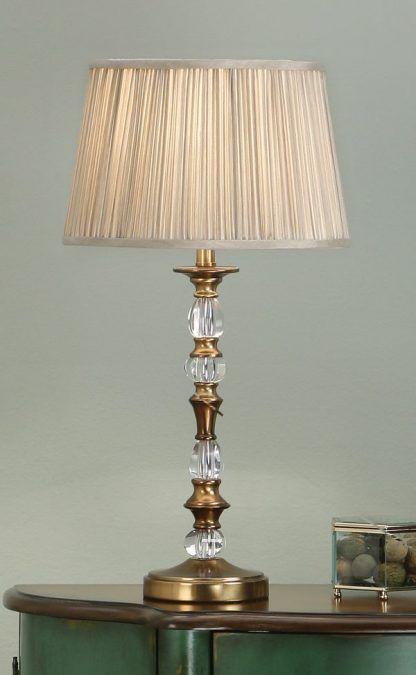 polina lampa stołowa w kolorze mosiądzu
