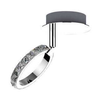 Połyskująca lampa sufitowa ze szklanymi kryształkami