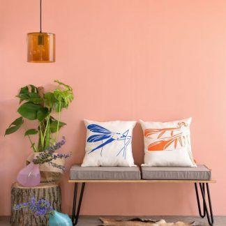 pomarańczowa lampa wisząca aranżacja