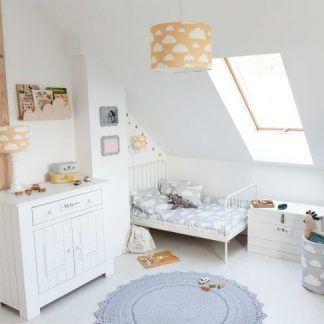 pomarańczowa lampa wisząca do pokoju dziecięcego - aranżacje