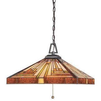 pomarańczowa lampa wisząca witrażowe szkło