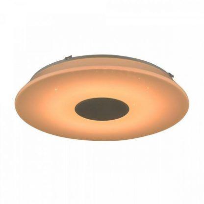 pomarańczowa lampa z głośnikiem do łazienki
