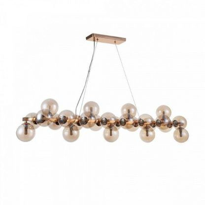 pomysł na lampę wiszącą do salonu nad stół - szklane kule