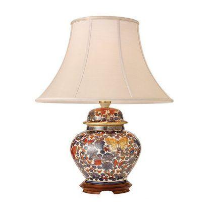 porcelanowa lampa stołowa z abażurem