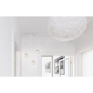 potrójna biała lampa wisząca pająk do salonu