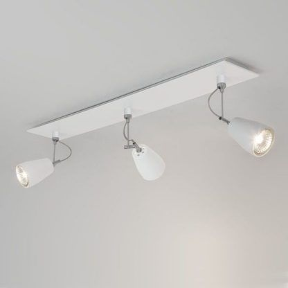 potrójna lampa sufitowa z 3 reflektorkami - nowoczesna i płaska szyna