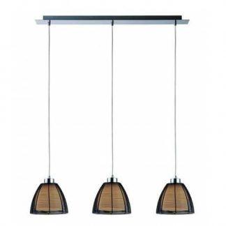 potrójna lampa wisząca nad stół styl retro