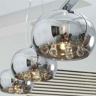potrójna lampa wisząca z efektem lustra weneckiego