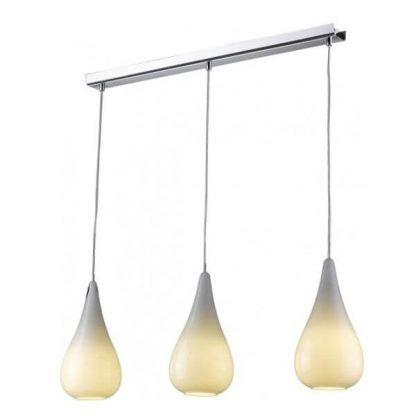 potrójna lampa wisząca z kloszami do jadalni