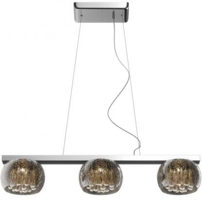 Potrójna lampa z kloszami efekt kropli do salonu