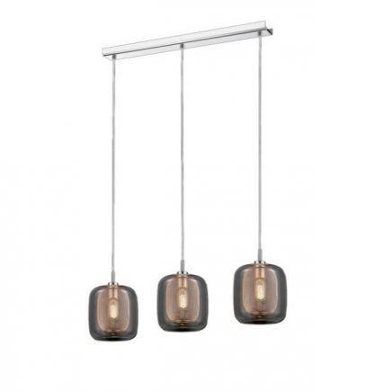 potrójna nowoczesna lampa wiszaca do salonu lub kuchni