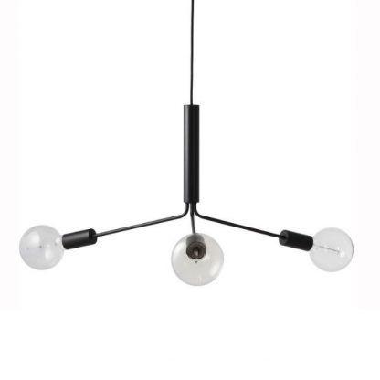 potrójny żyrandol wiszący do nowoczesnego salonu z żarówkami edisona