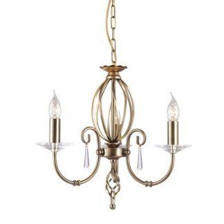 potrójny żyrandol złoty ze świecznikami - eleganckie złoto