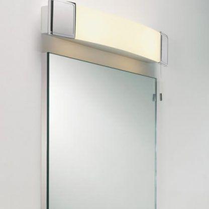 poziomy kinkiet łazienkowy szklany z wtyczką