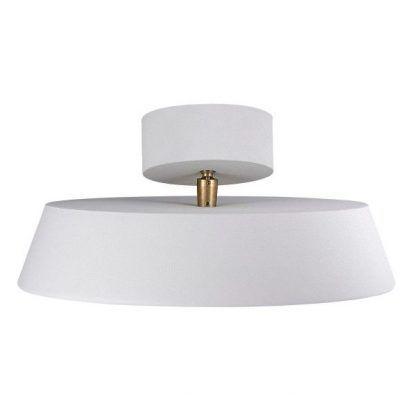 prosta nowoczesna lampa sufitowa ze złotym uchwytem
