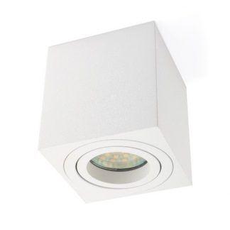 prostokątna lampa sufitowa led - downlight nowoczesny do salonu